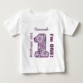 1st Birthday Girl LACE One Year Custom Name V03D T-shirt