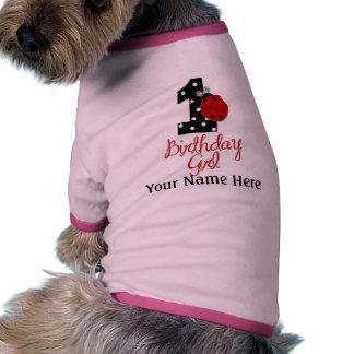 1st Birthday Girl - Lady Bug - 1 - Ladybug Pet Tee Shirt