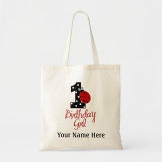 1st Birthday Girl - Lady Bug - 1 - Ladybug Tote Bag