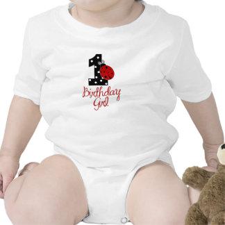 1st Birthday Girl - Lady Bug - 1 - Ladybug Baby Bodysuit