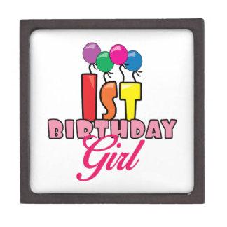 1st Birthday Girl Premium Jewelry Box