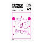 1st Birthday ~Girl Stamps