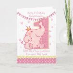 "1st Birthday Granddaughter, Pink Elephant Card<br><div class=""desc"">1st Birthday Granddaughter,  Pink Elephant Card</div>"