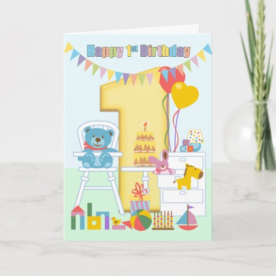 1st birthday greeting card happy first birthday card zazzle 1st birthday greeting card happy first birthday card m4hsunfo