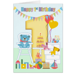 st birthday cards  zazzle, Birthday card