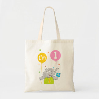 1st Birthday I am 1 Years Old Canvas Bags