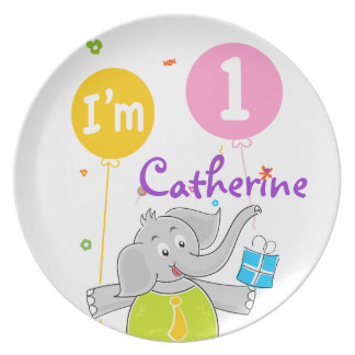 1st Birthday I am 1 Years Old Dinner Plate