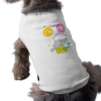 1st Birthday I am 1 Years Old Pet Clothing
