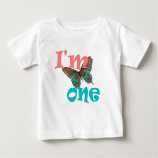 1st birthday I'm 1 butterfly t-shirt