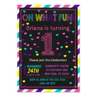 1st Birthday Invitation Girl First Birthday Party