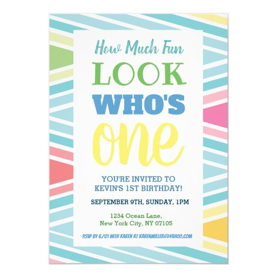 Pleasant 1St Birthday Invitation Sayings Zazzle Com Birthday Cards Printable Nowaargucafe Filternl