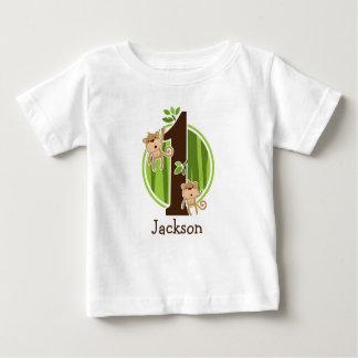 1st Birthday Jungle Monkeys Tshirt
