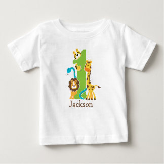 1st Birthday Jungle Tshirt