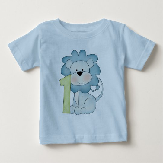 1st Birthday Lion Baby T-Shirt