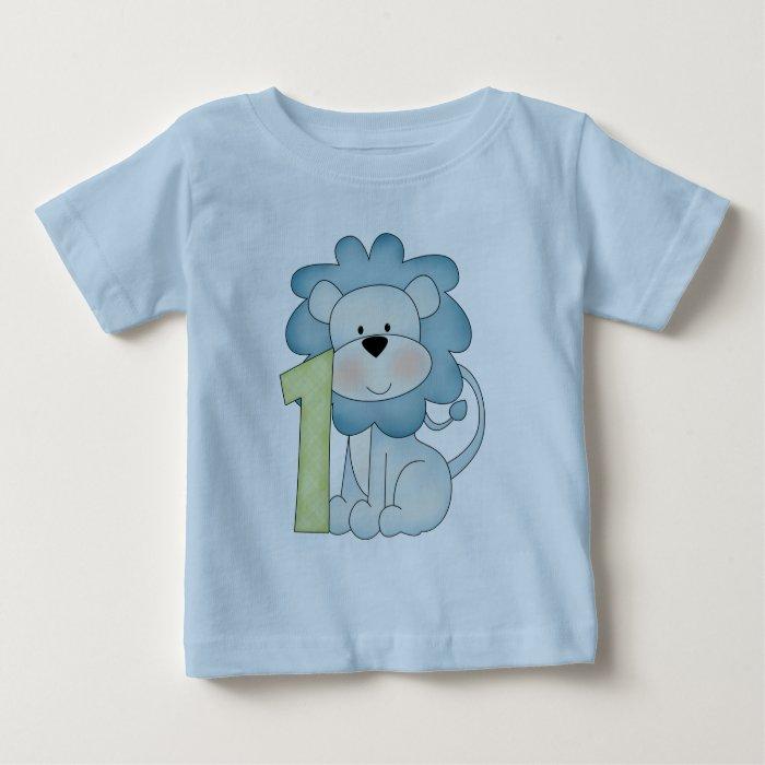1st Birthday Lion Baby T Shirt