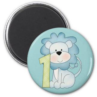1st Birthday Lion 2 Inch Round Magnet