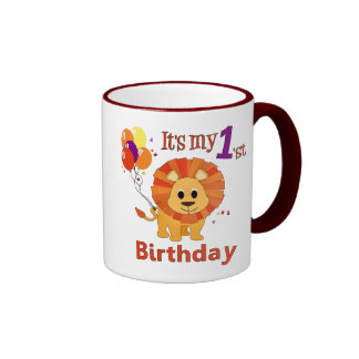 1st Birthday Lion Coffee Mugs
