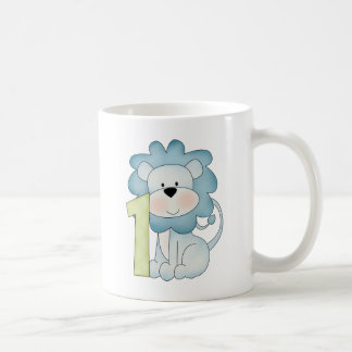 1st Birthday Lion Classic White Coffee Mug