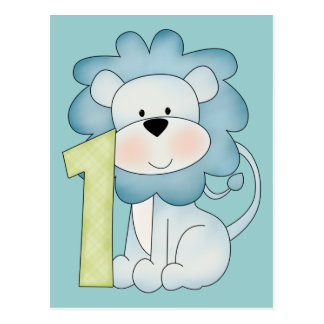 1st Birthday Lion Postcard