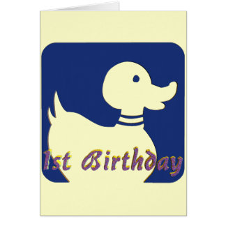 1st Birthday Little Duck Card
