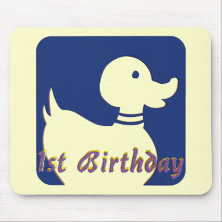 1st Birthday Little Duck Mouse Pad