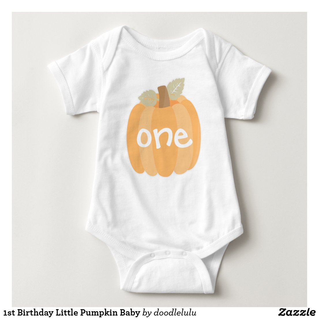1st Birthday Little Pumpkin Baby Baby Bodysuit