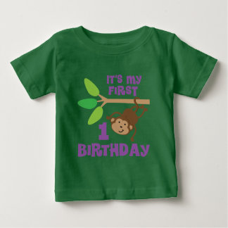 1st Birthday Monkey Lover T-shirt