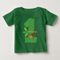 1st Birthday Monkey Number One T-shirt