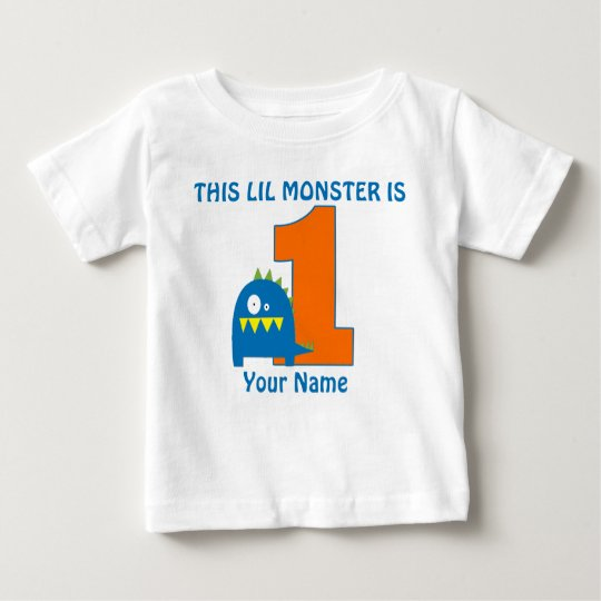 1st Birthday Monster Personalized T Shirt