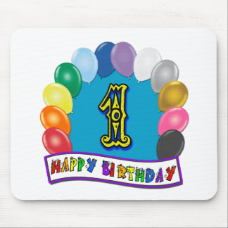 1st Birthday Mousepad with Assorted Balloons