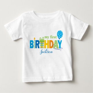 1st Birthday Multicolor Blues Birthday Letters Shirt