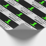 """[ Thumbnail: 1st Birthday - Nerdy / Geeky Style """"1"""" and Name Wrapping Paper ]"""