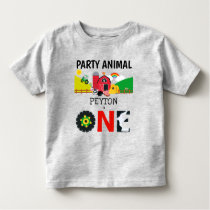 1st Birthday One Year Old Farm Party Animal Toddler T-shirt