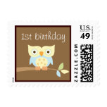 1st Birthday Owl Postage