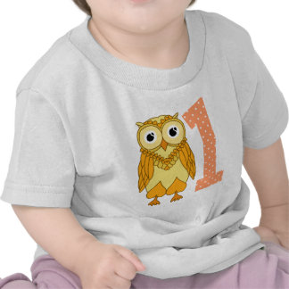 1st Birthday Owl Tee Shirt