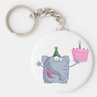 1st Birthday Party Cake Keychain