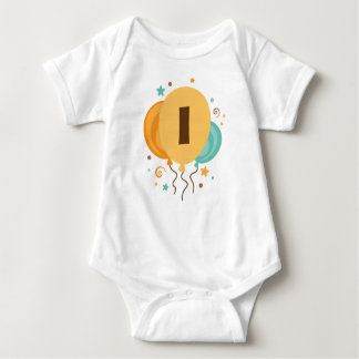 1st Birthday Party Gift Idea Baby Bodysuit