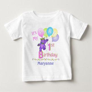 1st Birthday Party Girl Princess Bear Infant T-shirt