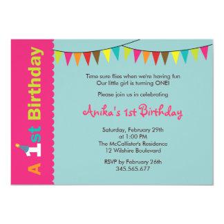1st Birthday Party Invitation for Girls