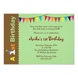 1st Birthday Party Invitation for Kids