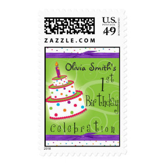 1st Birthday Party Personalized Postage
