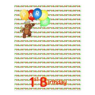 1st Birthday Party Royal Bear Scrapbook  Paper 3