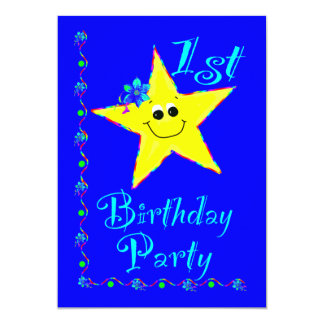 1st Birthday Party Star Invitation