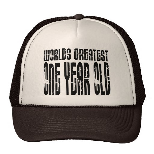 1st Birthday Party Worlds Greatest One Year Old Mesh Hats