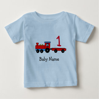 1st Birthday Personalized Train T-Shirt