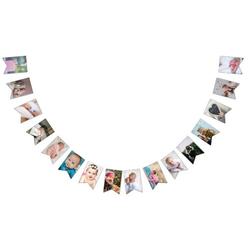 1st Birthday Photo First Baby Party Create You Own Bunting Flags
