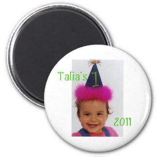 1st Birthday Pin - Boy or Girm Magnet