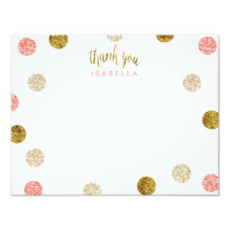 1st Birthday-Pink and Gold Glitter Card
