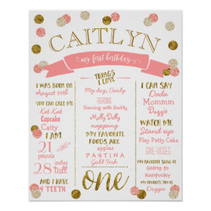 glitter birthday posters crafts party supplies zazzle
