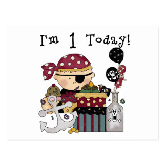 1st Birthday Pirate T-shirts and Gifts Postcard